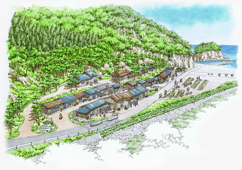 岩手県田野畑村、机浜番屋群再建へ着工 - 観光経済新聞