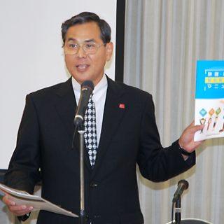 続投が決まった野澤部会長。施設事故防止管理マニュアルの積極的活用を訴えた